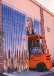 Forklift entering freezer